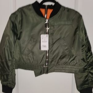 Zara Reversible Crop flight jacket